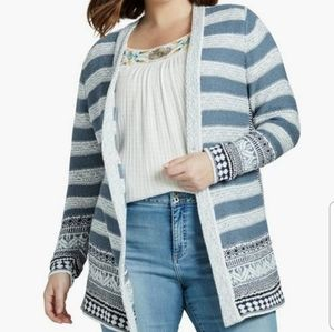 Lucky Brand Plus Size Open Cardigan NWT